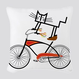 Bicycle Woven Throw Pillow