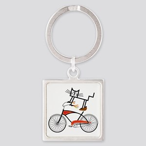 Bicycle Square Keychain