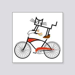 "Bicycle Square Sticker 3"" x 3"""