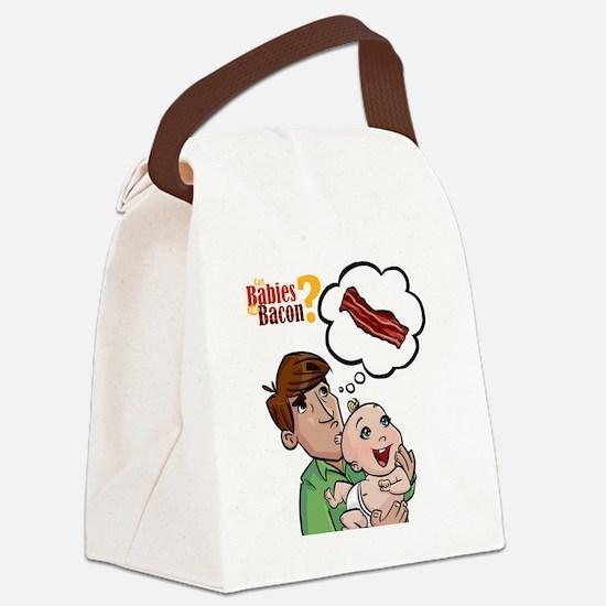 baconbaby_02 Canvas Lunch Bag