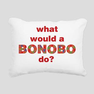 bonobo-overlay-red-2 200 Rectangular Canvas Pillow