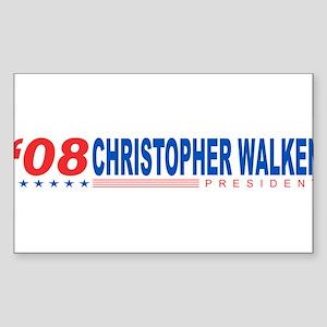 Christopher Walken 2008 Rectangle Sticker