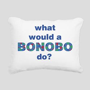 bonobo-overlay-blue 2000 Rectangular Canvas Pillow