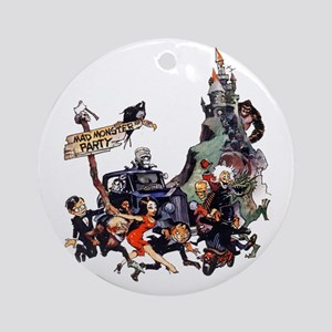 MadMonsterParty Round Ornament