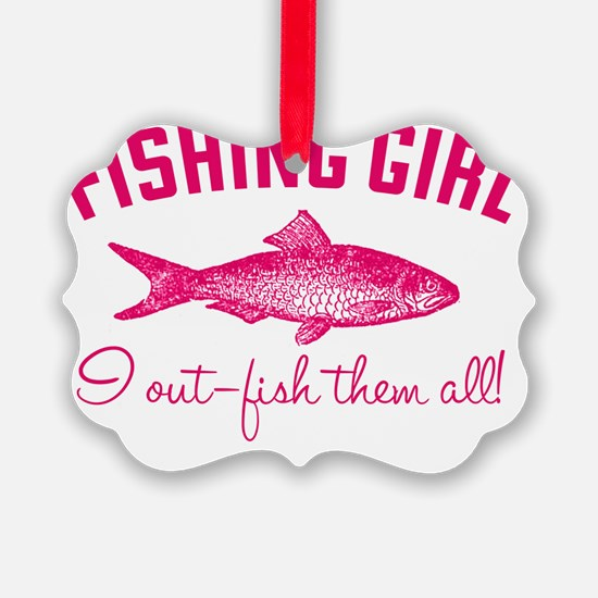 fishing girl Ornament