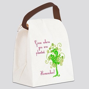 Grow where planted Canvas Lunch Bag