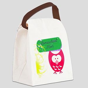Homeschool Mom Owl Canvas Lunch Bag