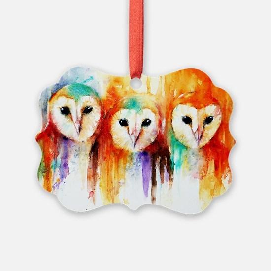 Row of Owls Ornament