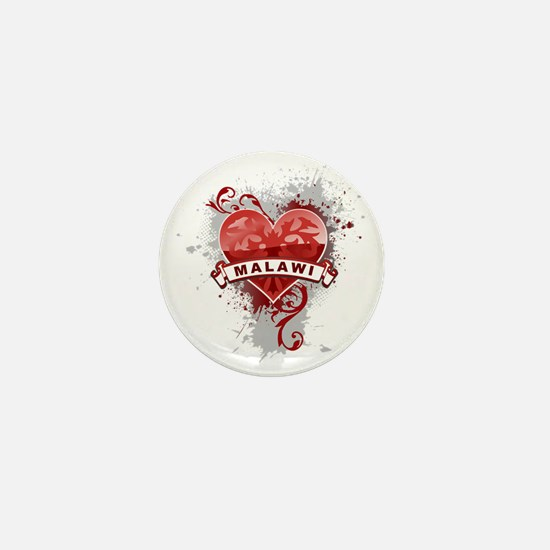 heart2Malawi1 Mini Button