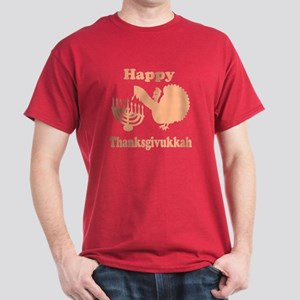 Happy Thanksukkah 3 peach T-Shirt