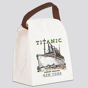 TG8 Neon  White 14x14-4 Canvas Lunch Bag