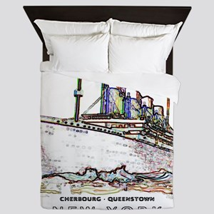 TG8 Neon  White 14x14-4 Queen Duvet