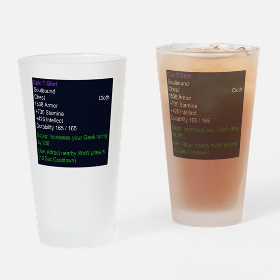 Epic T-shirt Drinking Glass