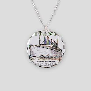 TG8NeonWhiteTRANS14x14-4 Necklace Circle Charm
