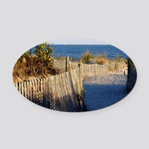 dune path Oval Car Magnet