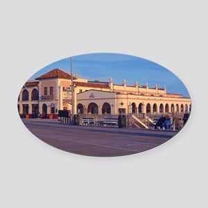 OC music pier for store Oval Car Magnet