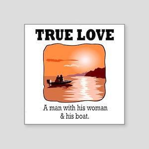 """true love Square Sticker 3"""" x 3"""""""