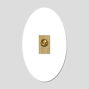 mirror trek 20x12 Oval Wall Decal