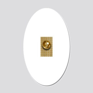 mrrgld3 20x12 Oval Wall Decal