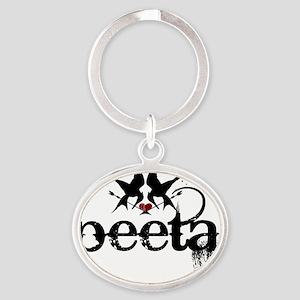 black peeta with mockingjays hunger  Oval Keychain