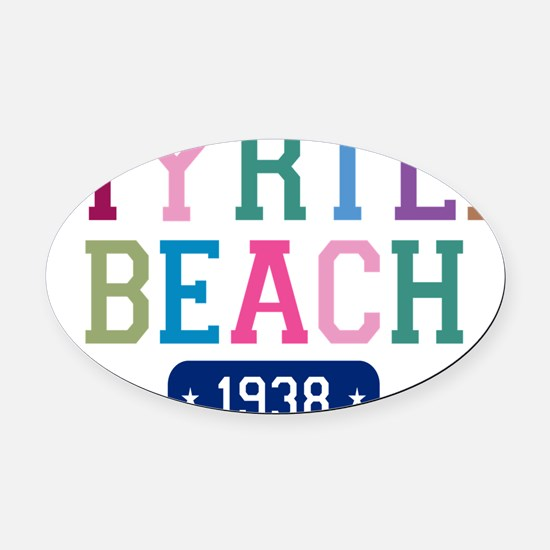 Myrtle Beach 1938 W Oval Car Magnet