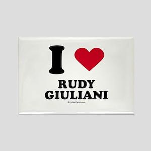 I Love Rudy Giuliani Rectangle Magnet
