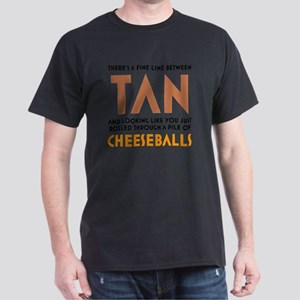 Tan-Orange-White Dark T-Shirt