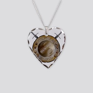 CP Shield_and_sword_Logo Necklace Heart Charm