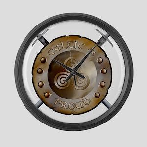 CP Shield_and_sword_Logo Large Wall Clock