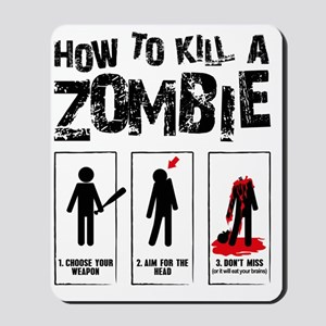 kill zombie Mousepad