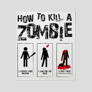 kill zombie Throw Blanket