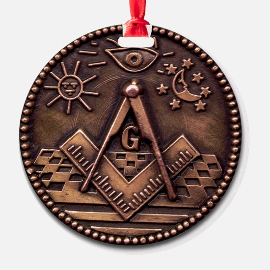 Masonic Coin Ornament