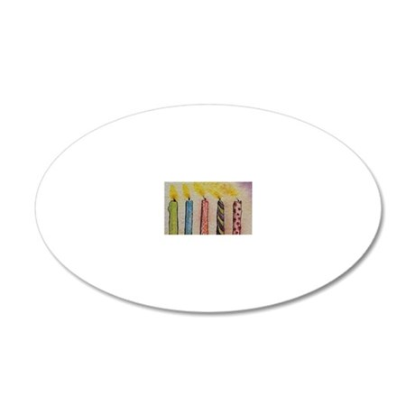 HappyBirthday 20x12 Oval Wall Decal