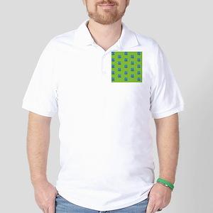 Duvet Queen Aqua Owl pattern green Golf Shirt