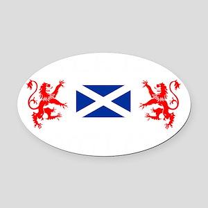 Falkirk Scotland Oval Car Magnet