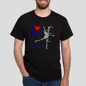 MkeAirportDiagramGraphicMasterv4 Dark T-Shirt