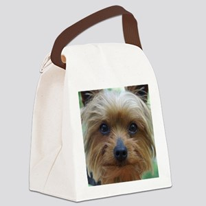 YorkieShowerC Canvas Lunch Bag