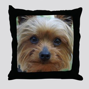 YorkieShowerC Throw Pillow