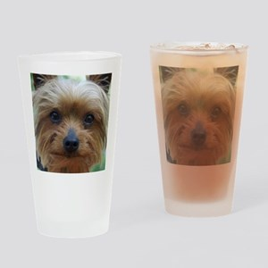 YorkieShowerC Drinking Glass