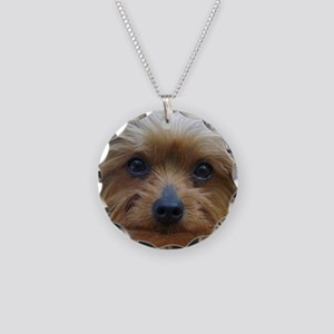 YorkieShowerC Necklace Circle Charm