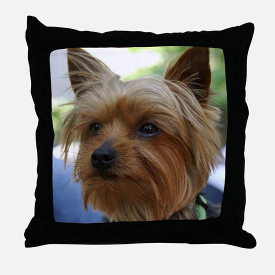 YorkshireTerrierShower Throw Pillow