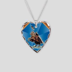 Templar Knight Necklace Heart Charm