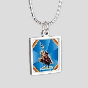 Templar Knight Silver Square Necklace
