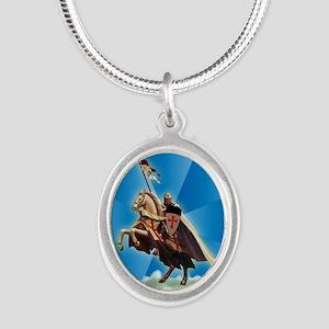 Templar Knight Silver Oval Necklace