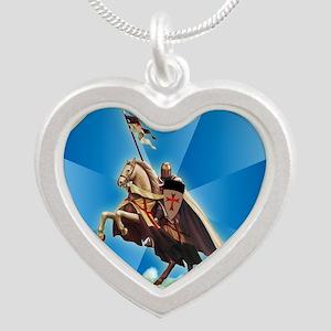 Templar Knight Silver Heart Necklace