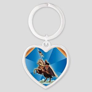 Templar Knight Heart Keychain