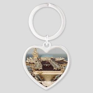 constellation cv framed panel print Heart Keychain