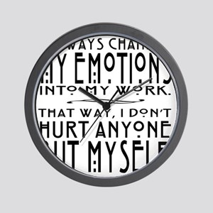 cinna quote 1 blk on light Wall Clock