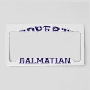 dalmatianproperty License Plate Holder
