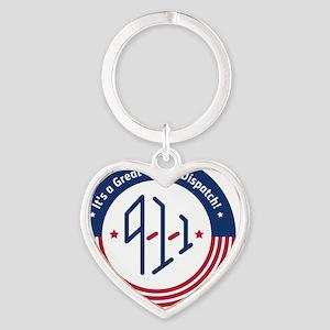 4Logo-911-fullcolour Heart Keychain